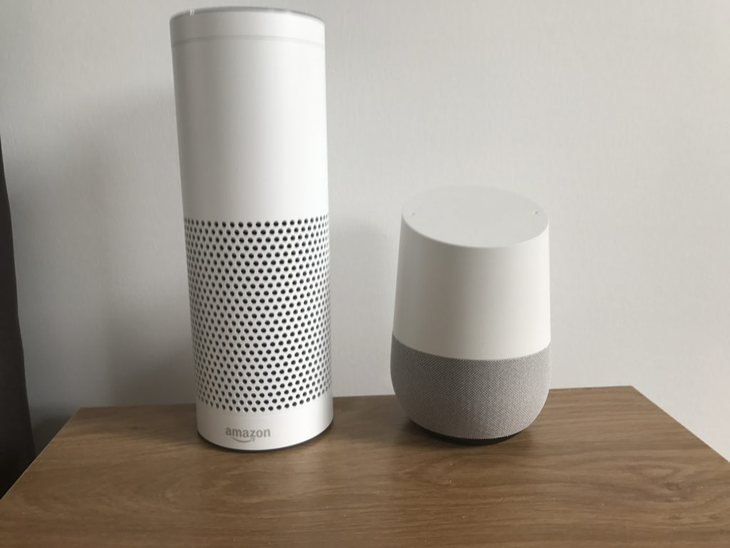 Amazon Echo Alexa vs Google Home UK - DLS Tech