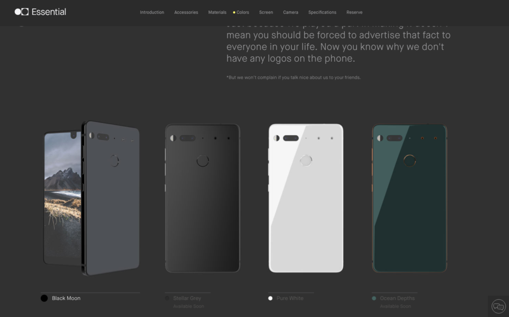 Essential Smart Phone Colours Colors - DLS Tech