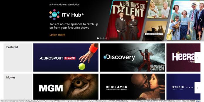 Amazon Channels Launches UK Prime Video - DLS Tech