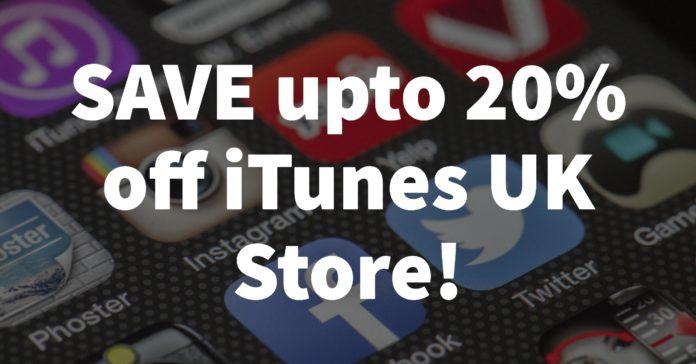 iTunes Codes - 20% off iTunes UK store