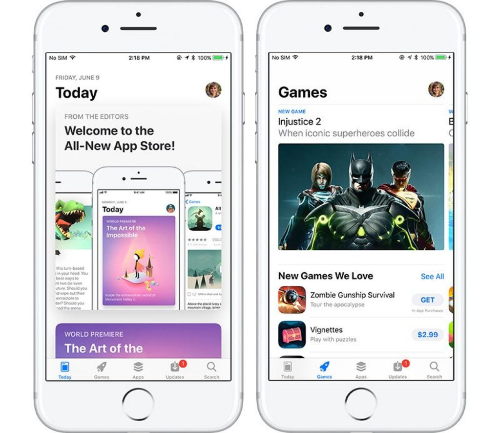 App Store iOS 11 redesign 2017. New Apple features update DLS Tech