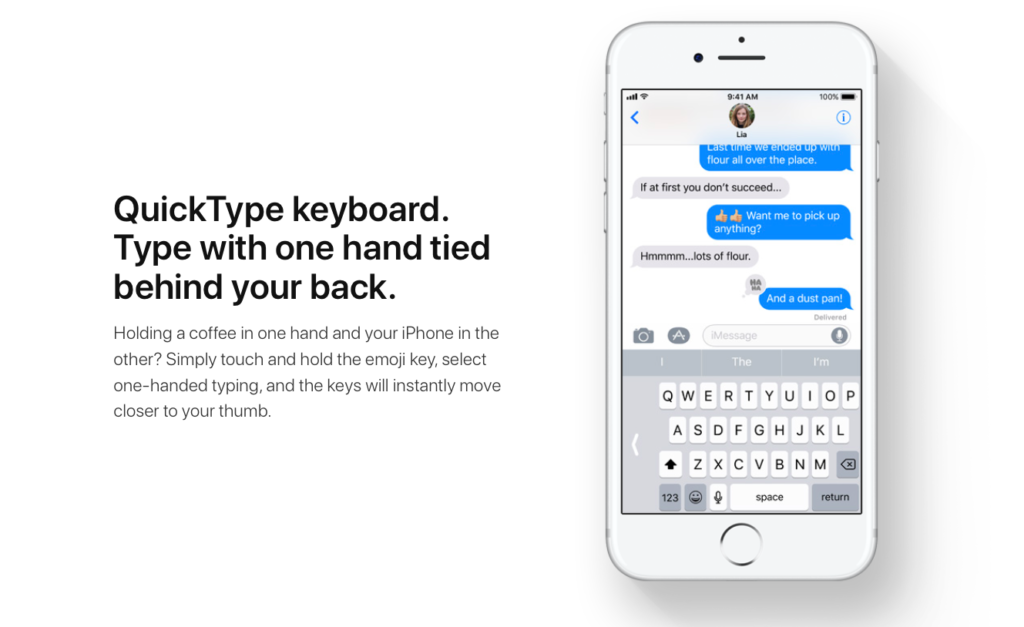 iOS 11 one handed keyboard. New Apple iPhone Feature for 2017. DLS Tech