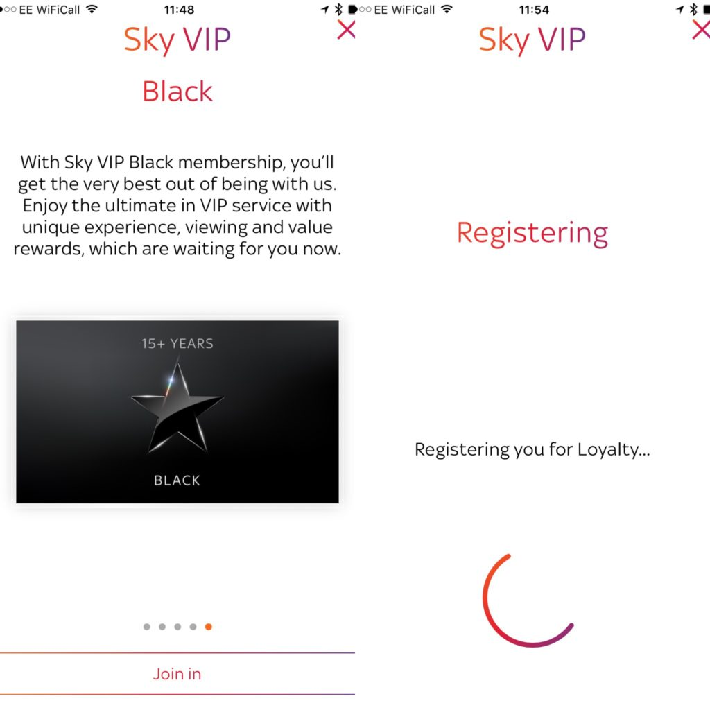 Sky VIP Black level reward program