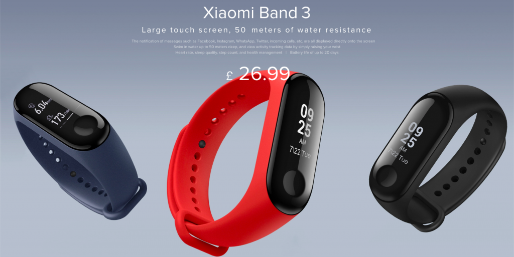 Xiaomi Band 3 UK launch - DLS Tech