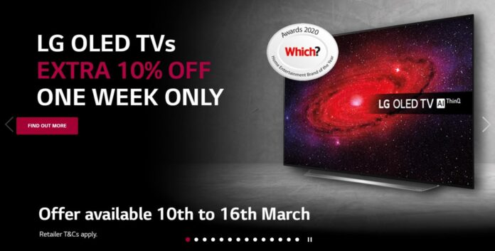 LG CX OLED 10% off lowest ever UK price - DLS Tech